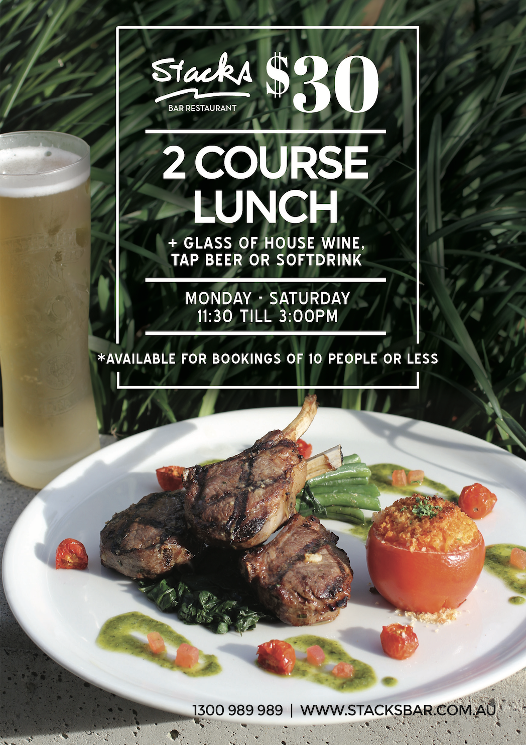 Stacks Bar Restaurant 2 Course Lunch Special
