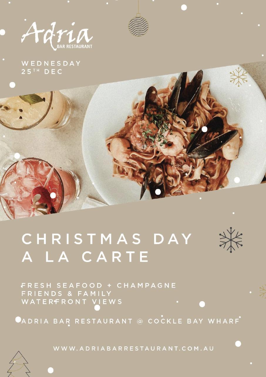 Christmas Dinner Restaurants Near Me 2019.Christmas At Adria Bar Restaurant Nick S Restaurant Bar